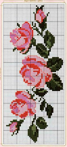 beginner knitting a baby hat Russian Cross Stitch, Cross Stitch Rose, Cross Stitch Flowers, Hand Embroidery Patterns Free, Knitting Machine Patterns, Crochet Patterns, Cross Stitch Designs, Cross Stitch Patterns, Cross Stitching
