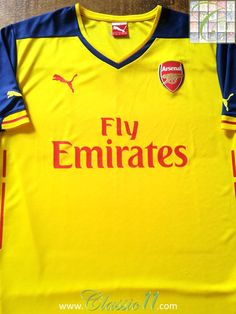 Relive Arsenal s 2014 2015 season with this original Puma away football  shirt. Arsenal Football 9a2c47a30