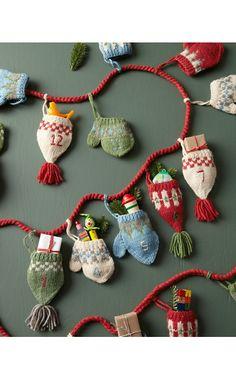 Hats and Mittens Fair Isle Advent Calendar