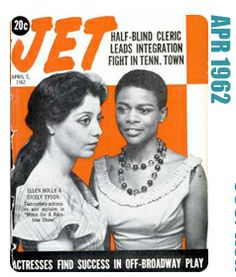 Cicely Tyson, actress, 1962 cover of Jet Magazine