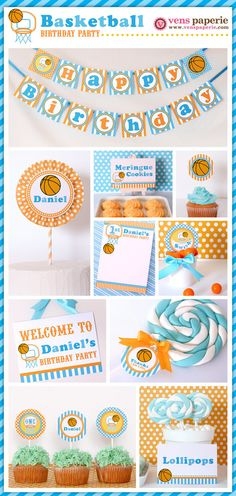 sport basketball birthday party, DIY printable decoration (www.venspaperie.com)