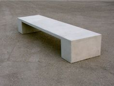 contemporary public bench in concret.