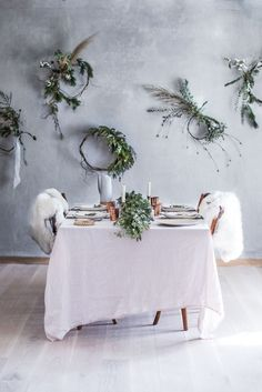 diy organic wreath t