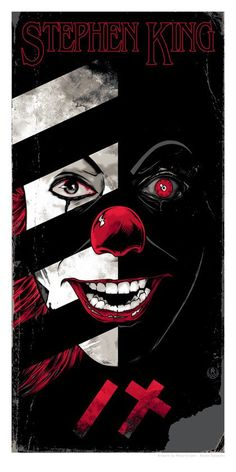 'Stephen King' prints by Rhys Cooper for Es Pennywise, Pennywise The Dancing Clown, Scary Movies, Horror Movies, Art It, Rhys Cooper, Stephen King Books, Stephen Kings, Kunst Tattoos