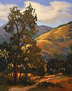 """Somewhere North Of Fallbrook"" by Jan Schmuckal Oil ~ 20 x 16 #landscape #art…"