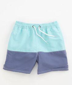 Boys Swim Pieced Bungalow Shorts For Boys Vineyard