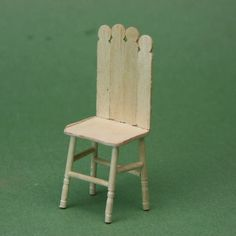 Make a Dolls House Child's Chair From Toothpicks and Wooden Stir Sticks