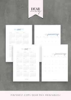 2019 Monthly Calendar Printable ⋆ 2019 Calendar ⋆ 3 Colours ⋆ Minimalist Design ⋆ Cute calendar pages ⋆ Annual Overview ⋆ Instant Download ⋆ Dear May Printables Cute Calendar, Calendar Pages, Cards Against Humanity, Printables, Personalized Items, Handmade Gifts, Etsy, Design, Kid Craft Gifts