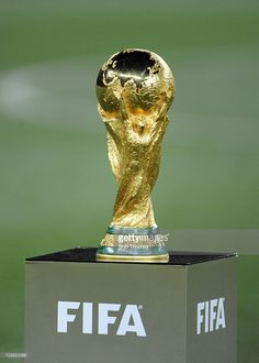 The FIFA World Cup trophy before the start of the 2010 FIFA World Cup Final between the Netherlands and Spain on July 2010 in Johannesburg, South Africa. World Cup Winners, World Cup 2014, Fifa World Cup, World Cup Trophy, Nike Football Boots, Cricket Equipment, Football Trophies, Word Cup, Cristano Ronaldo