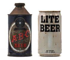 Can't help but *love* these vintage beer cans. 1 of 4