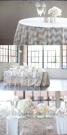 I do want to incorporate chevron, not in the individual table linens, perhaps on cake table, escort table, and some other areas