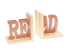 Set de 2 sujetalibros de madera DM Leer