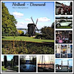 Collage with photos from Holbaek - Zealand - Denmark