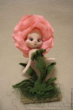 Коллекционные куклы ручной работы. Ярмарка Мастеров - ручная работа. Купить Розочка. Handmade. Розовый, вязание крючком, елена макеенкова