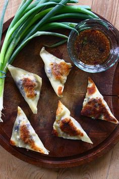 Curried pork potstickers with soy ginger dipping sauce. Mmmm... #recipe