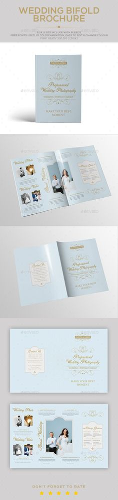 Wedding Brochure Template | Brochure Template And Brochures