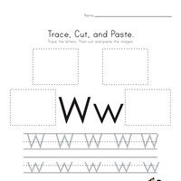 Pin On K 5 School Ideas Tracing letter w worksheets for