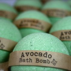 Avocado Bath Bomb, Aromatherapy Bath Bomb, 1 All Natural Bath Bomb Fizzy by UrbanSoapsmith on Etsy https://www.etsy.com/listing/236183607/avocado-bath-bomb-aromatherapy-bath-bomb