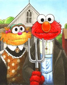 Grant Wood: American Muppet Gothic