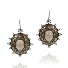 Nam Cho 18K gold, smoky quartz, and diamond earrings, $11,700, mitchellstores.com-Wmag