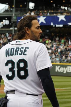 Michael Morse's locks are, well, beastly. #Mariners