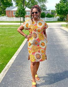 African Shirt Dress, Kente Dress, Short African Dresses, Ankara Dress Styles, African Fashion Dresses, African Style Clothing, African Clothes, South African Fashion, African Fashion Designers