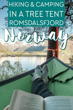hiking to Tarløysa and camping in a tree tent in Isfjorden, on Romsdalsfjord in Norway Beautiful Places To Visit, Cool Places To Visit, Northern Lights Norway, Tree Tent, Norway Fjords, Europe On A Budget, Europe Holidays, Norway Travel, Gap Year