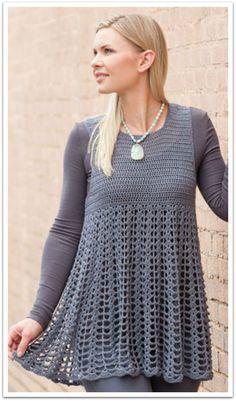 Cheery Tunic - This pretty tunic can be worn year-round! Crochet tunic pattern