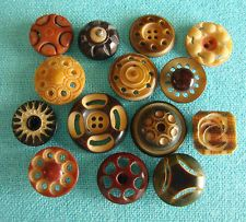 Carved & pierced vegetable ivory buttons