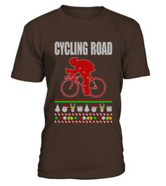 Cycling Road Ugly Christmas Sweater Shirt