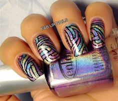 Fab Ur Nails, stamping decals with Color Club Halo Hues