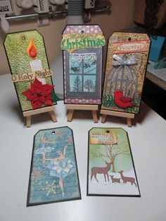 5 Christmas Tags! by figaro - Cards and Paper Crafts at Splitcoaststampers