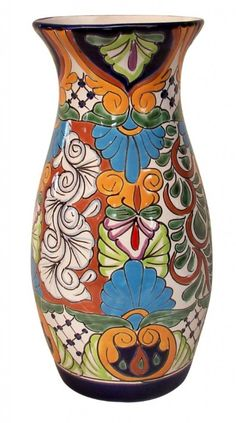Authentic Talavera pottery is the ceramic wear produced in the state of Puebla, Mexico following the traditional process introduced by the Spaniards in the 16th Century.  Talavera has a hand-made appearance, meaning that irregularities are characteristic & desirable / http://www.casalatina.hu/en