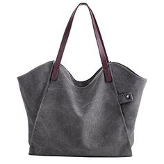 New Trending Tote Bags: Sanxiner Womens Casual Canvas Tote Bags Shoulder Handbag Travel Bag (Gray). Sanxiner Women's Casual Canvas Tote Bags Shoulder Handbag Travel Bag (Gray)  Special Offer: $18.99  255 Reviews Features – Fashion but unique design.Perfect for everyday wear and travel,spacious and economically price. . – Blue,gray,Beige,brown colors,fit for all...