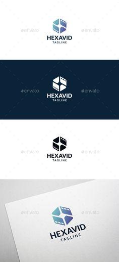 Hexa Video Logo Template Vector EPS, AI Illustrator. Download here: https://graphicriver.net/item/hexa-video-logo-template/17504662?ref=ksioks