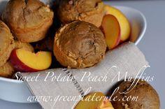 Sweet Potato Peach Muffins via Green Plate Rule