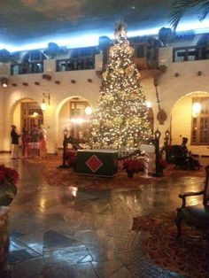Grand Christmas tree inside the Hotel Hershey! The Patio. Visiting The Hershey Area? The Hotel Hershey Is A Must!