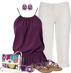 """summer plum"" by mommymeager ❤ liked on Polyvore"