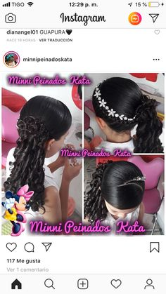 22 best peinados cabello recogido images in 2019 Childrens Hairstyles, Natural Hairstyles For Kids, Cute Hairstyles, Natural Hair Styles, Short Hair Styles, Wedding Curls, Blonde Pixie Cuts, Medium Short Hair, Hair Videos