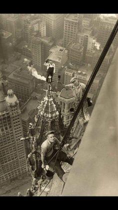 1920's window washers...WOW!