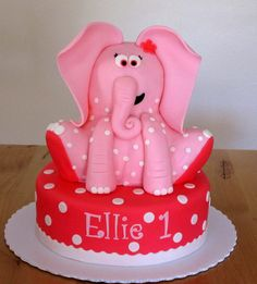 pink polka dot elephant by Sweeten Your Day, via Flickr