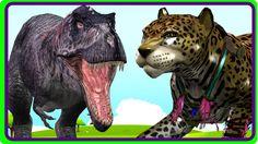 T-Rex Dinosaur Cartoons & Wild Animals Singing Children Nursery Rhymes  ...
