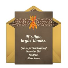 """We just love this free """"Colored Corn"""" party invitation with a festive fall design. Perfect for hosting a Fall party, a Thanksgiving dinner, and more."""
