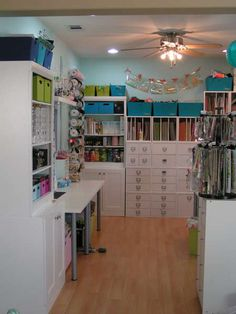I would LOVE to have this as my craft room!!! my husband would lose me for day in this craft room love it