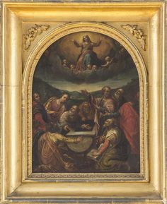 Luca Giordano  Italian (1634-1705)  christ ascending  oil on copper  12 1/4 x 9 1/2 in. (31.1 x 24.1 cm)  Estimate $ 4,000-6,000