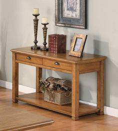 Coaster 701189 Traditional Sofa Table Oak New | $329.00