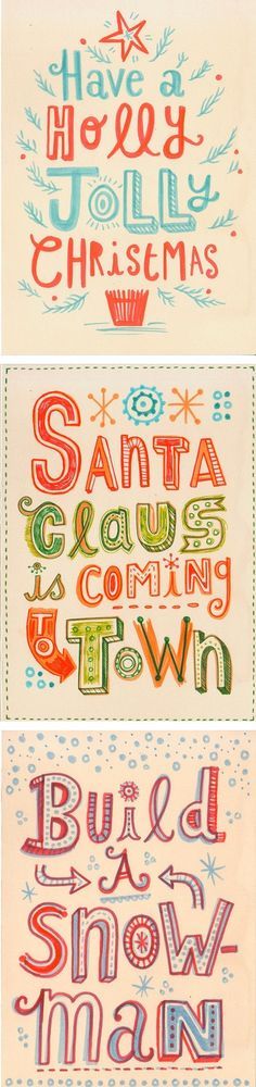 Winter/Christmas prints