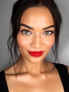 Believe it or not, there are still a lot of people who stay away from red lipstick. Bright fire-engine red tones can be intimidating, but as long as the rest of your look is toned down, they'll work out just fine.