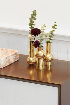 Set of Three Engraved Bead Vases - Skultuna X Tenfold