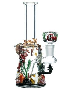 """""""Under the Sea"""" Mini Bong Empire Glassworks This aquatic-themed masterpiece is the perfect portable bong. The Under the Sea Mini Bong will carry you from bedroom to beachside with ease. Hippie Shop, Water Bongs, Glass Water Pipes, Pipes And Bongs, Weed Pipes, Glass Bongs, Head Shop, Smoking Weed, Under The Sea"""